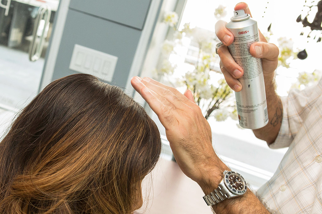 Apply shine serum or hair spray for a polished finish.