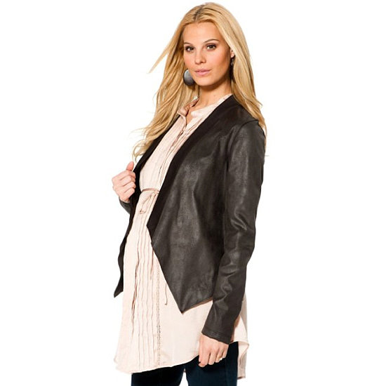 This Jessica Simpson ponte jacket ($69) is made from a knit fabric to keep you warm while enjoying a date night in style.