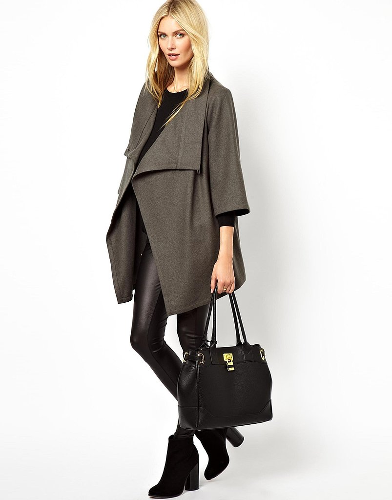 We only have two words for this asymmetrical Isabella Oliver  wrap jacket ($211): très chic!