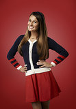 And yes, her season four portrait still features a sweater, but look how happy and confident she is!