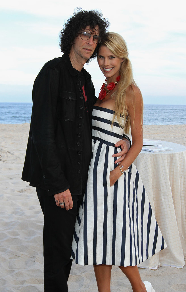 Howard Stern and his wife, Beth Stern, hit the beach for a Social Life magazine dinner in Southampton in July.