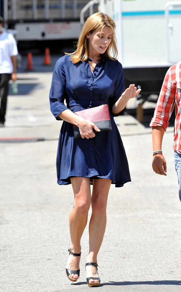 Ashley Greene filmed scenes for Wish I Was Here in LA on Wednesday.