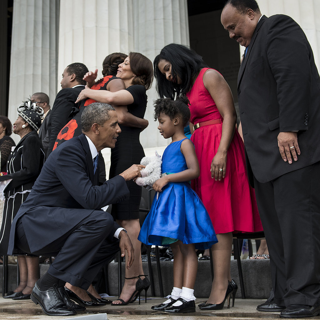 Obama Marks History With Help of MLK's Adorable Granddaughter