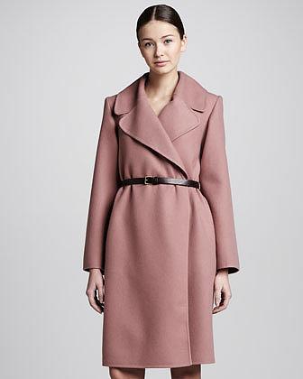 Marc Jacobs Double-Face Cashmere Coat, Rose