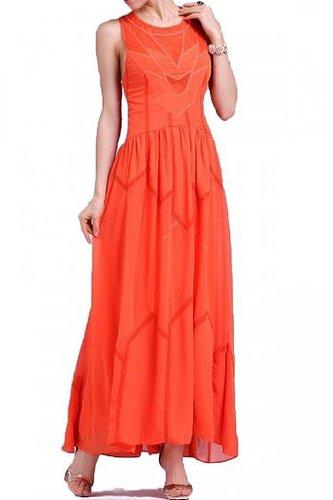 BCBG RUNWAY TAHLIA SLEEVELESS PANEL DRESS RED