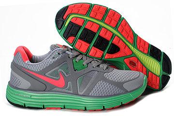Nike Lunarglide 3 Wolf GreyStealthHyper VerdeSolar Red Womens Shoes