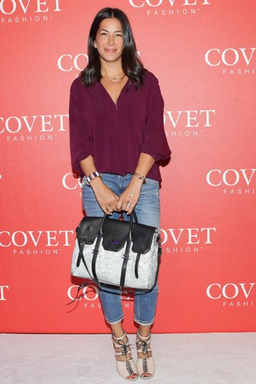 Rebecca Minkoff joined the Covet festivities in a plum blouse and denim at NYC's 82 Mercer.