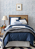Navy Color Frame Duvet & Shams ($38-$140)