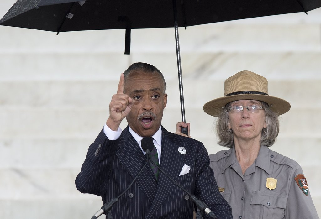 Reverend Al Sharpton spoke during the Let Freedom Ring Commemoration and Call to Action in DC.