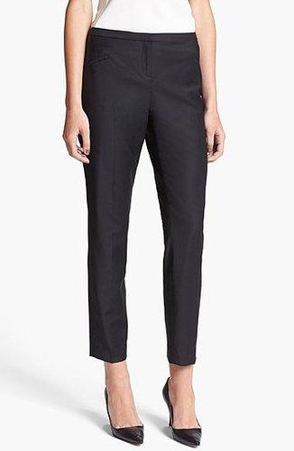 Ted Baker London 'Shiny Lavanta' Crop Trousers Womens Black Size 1 1