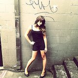 Lea Michele flaunted her fit frame in a tight black ensemble on the Glee set in NYC. Source: Instagram user msleamichele