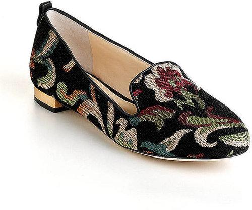VC SIGNATURE Adeline Leather Needlepoint Loafers