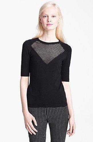 Moschino Cheap & Chic Wool Knit Top Black 12 US / 46 IT