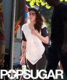 Kristen Stewart Sports Flip-Up Specs in Berlin