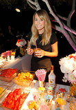 Lauren Conrad mixed up a drink at the garnish bar.