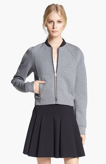 The bomber jacket is set to be the piece for Fall. I'm planning on getting a leg up on the game by ordering mine, ASAP. This T by Alexander Wang pick ($340) nails the trend, but is simple enough to feel chic and grown-up, instead of too varsity cheerleader. — Leah Melby, associate editor