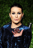 Lea arrived at the 2011 Vanity Fair Oscar party in a sparkling blue gown, which she accented with navy nails and a blue smoky eye.