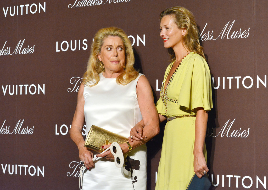 Kate Moss and Catherine Denueve hit the red carpet together.