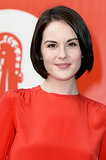 Michelle Dockery was spotted at the Miu Miu Women's Tales event, too, with a sleek hairstyle and barely there makeup.