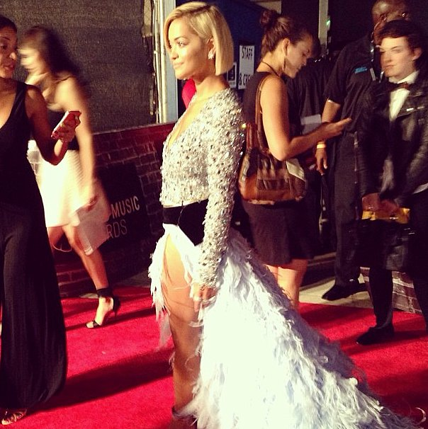 Rita Ora took over the red carpet at the VMAs.