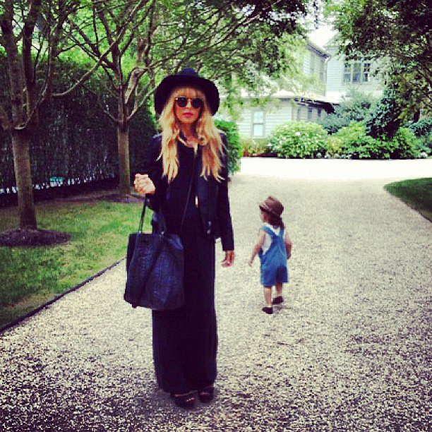 Rachel Zoe and her son enjoyed a fashionable day in the Hamptons!  Source: Instagram user rachelzoe