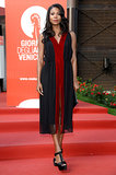 For the screening of Miu Miu's Women's Tale at the Venice Film Festival, Gabrielle Union picked a black and scarlet dress from the label.