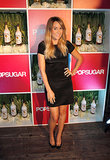 The guest of honor at our latest POPSUGAR party? One Miss Lauren Conrad, who dressed for the soiree in a short-sleeved black dress and bow-accented heels.