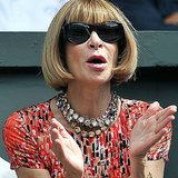 This is how Anna Wintour watches a tennis match.
