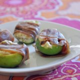 Goat Cheese Stuffed Figs Wrapped in Prosciutto