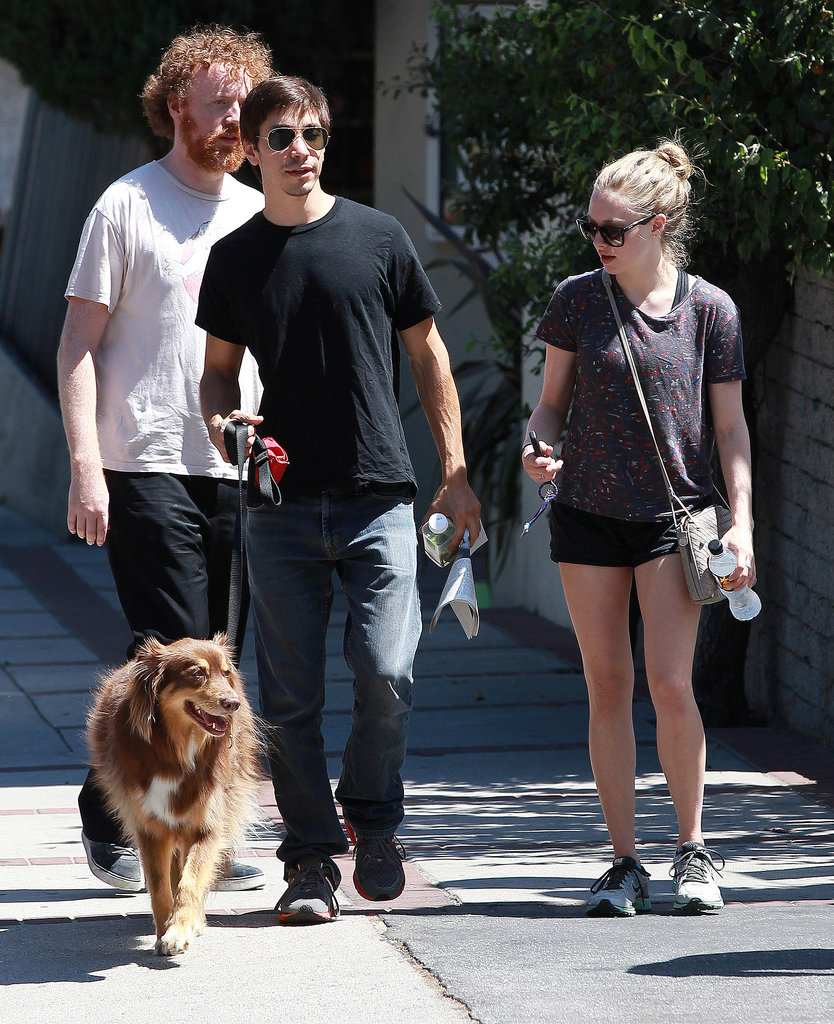 Justin Long and Amanda Seyfried stepped out in LA on Saturday.
