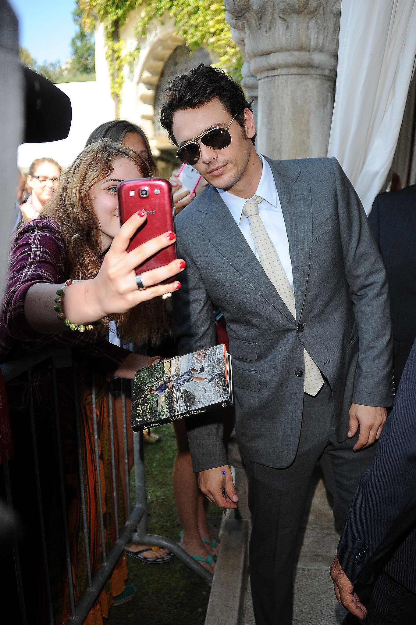 James Franco snapped a selfie with a fan at the Venice Film Festival.