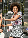 Solange danced on stage at the festival.
