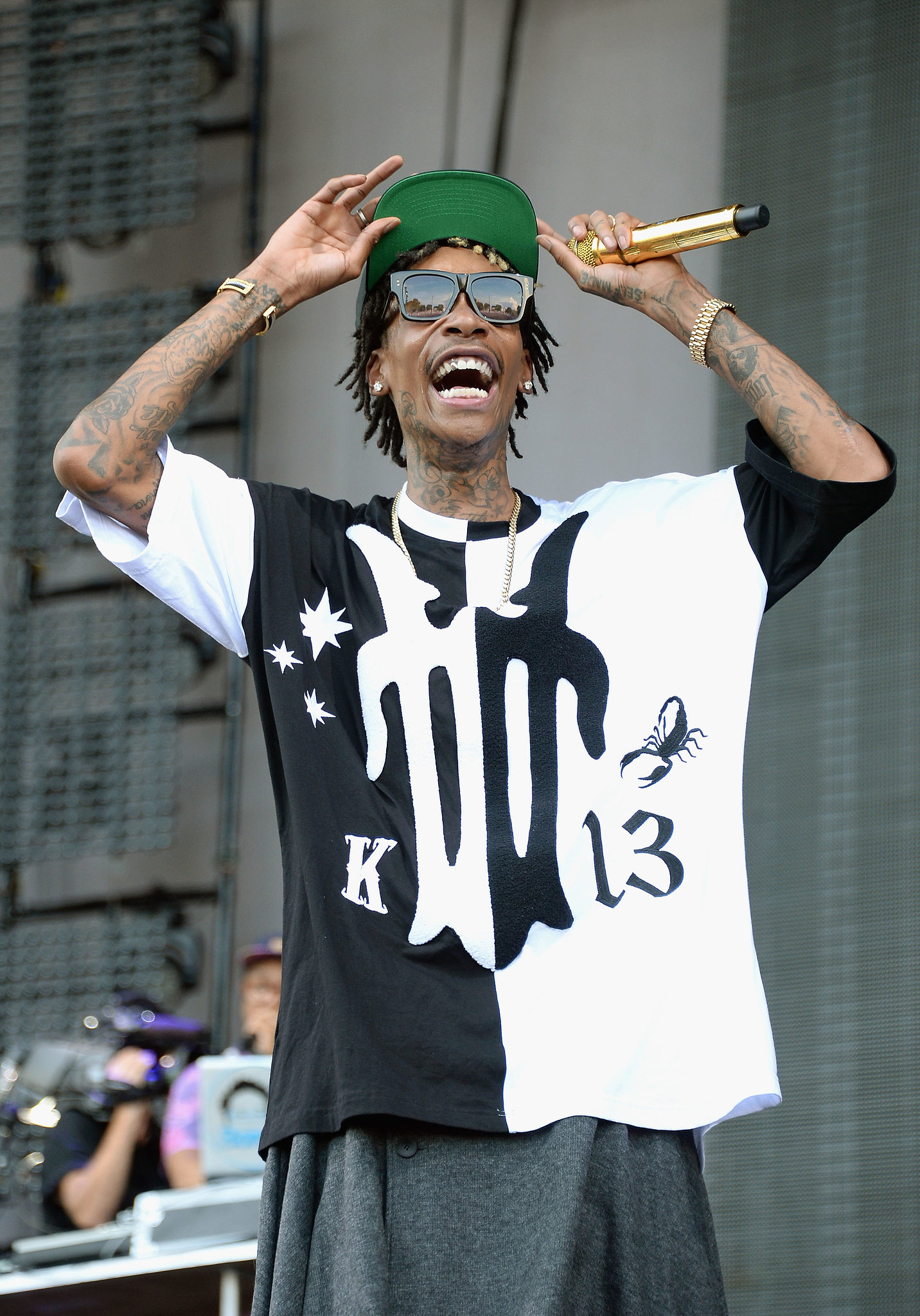 Wiz Khalifa performed at the festival.