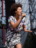 Solange Knowles performed during day two of the festival.
