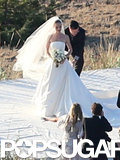 Kate Bosworth wore a custom Oscar de la Renta gown for her wedding day.