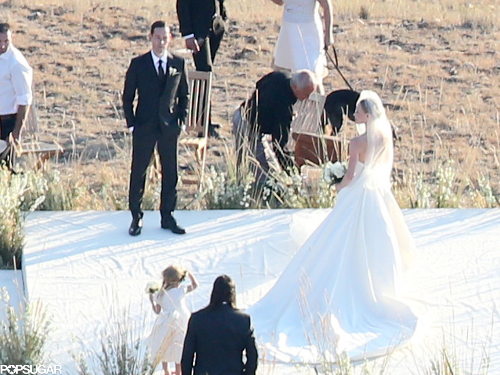 Kate Bosworth posed for pictures after her wedding.