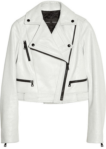 Proenza Schouler Cracked-leather biker jacket