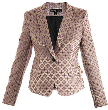 Elizabeth And James Abigail tile-jacquard blazer