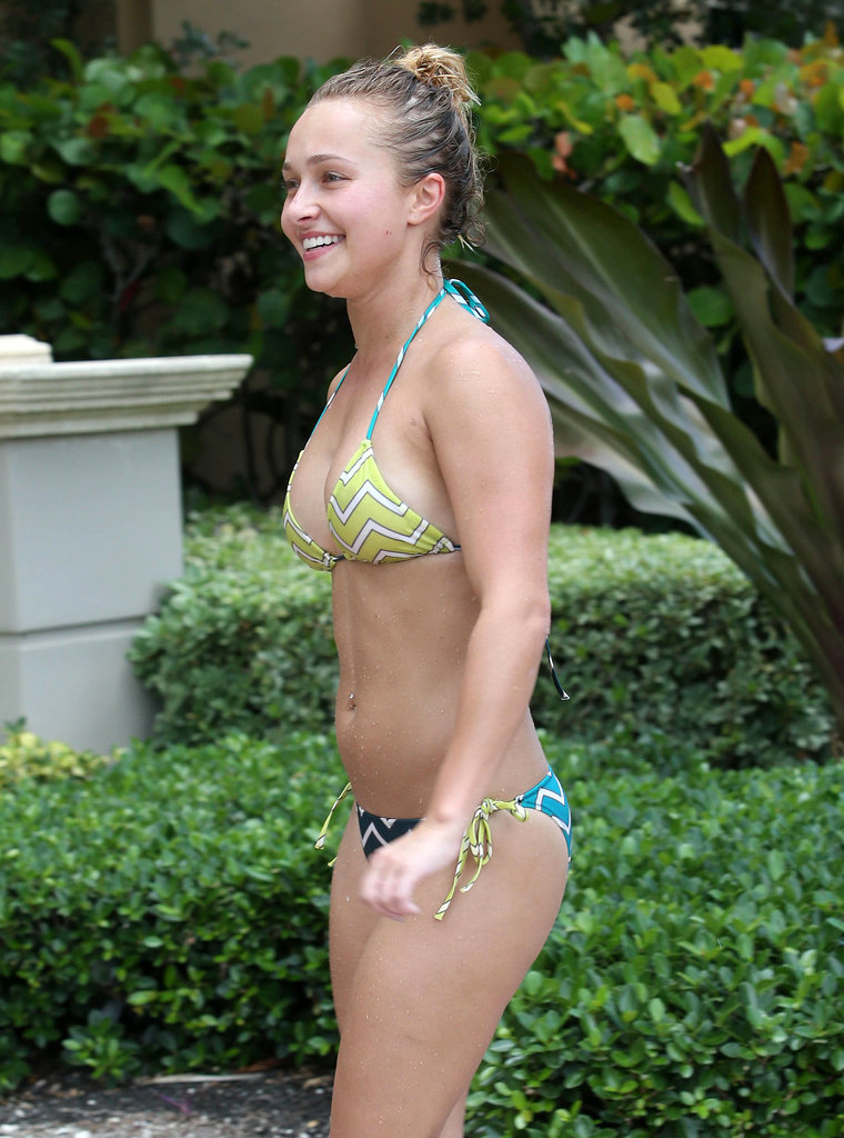 Hayden Panettiere wore a bikini while on vacation in Florida.