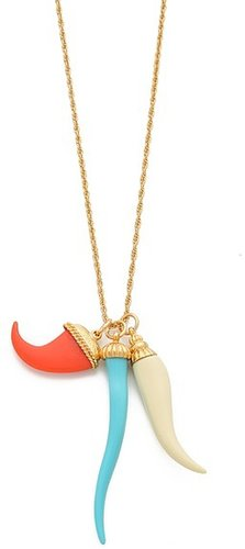 Kenneth jay lane Tooth & Horn Necklace