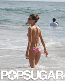 Alessandra Ambrosio spent a little time in the water.
