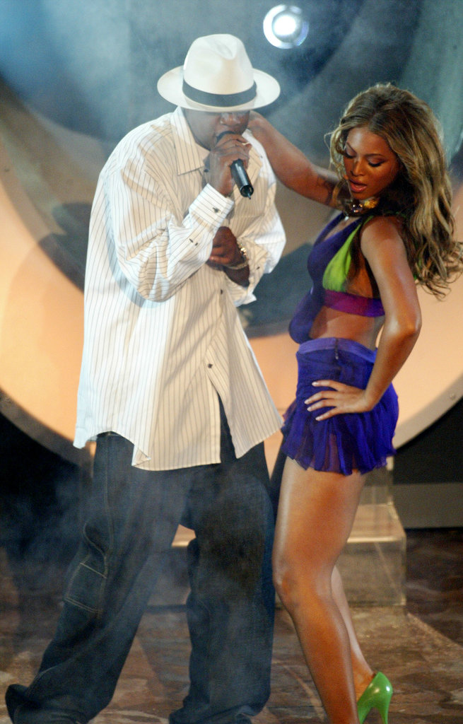 "Beyoncé Knowles put the moves on her then-boyfriend Jay Z as they performed ""Crazy in Love"" at the BET Awards in June 2003."