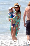 Jessica Alba and Haven Warren spent the day on the beach in LA.