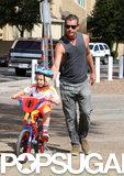 Gavin Rossdale took his son Zuma for an LA bike ride.