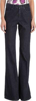 Stella McCartney Pinstriped Four-Pocket Flare Leg Jeans