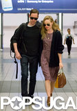 Kate Bosworth and Michael Polish arrived at LAX.