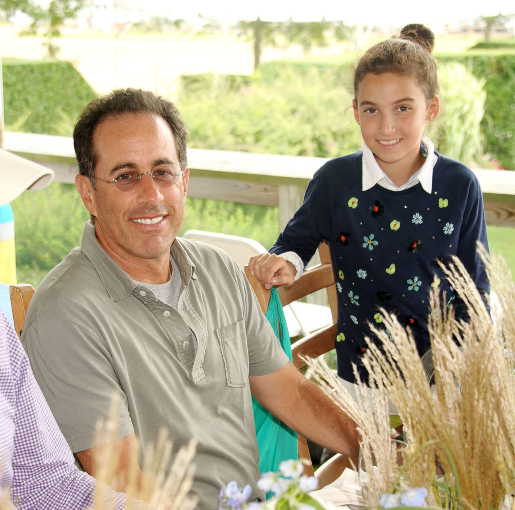 Jerry Seinfeld had his daughter, Sacha, with him at the Hampton Classic Horse Show.