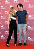 Scarlett Johansson posed with her director Jonathan Glazer at the Venice Film Festival.