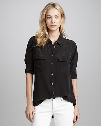 Equipment Signature Silk Blouse, True Black