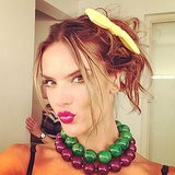 Alessandra Ambrosio got dressed up for a photo shoot for Glamour Brazil. Source: Instagram user alessandraambrosio